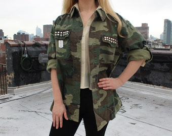 Jacke damen army