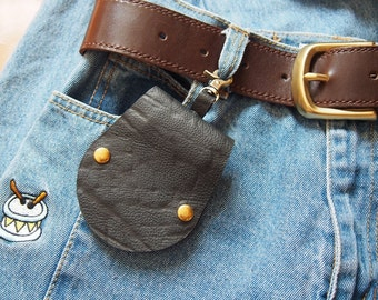 Christmas gift Handmade leather keychain Personalized Leather Keychain, Engraved keychain, Personalized leather key fob