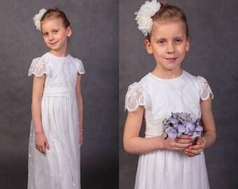 Communion dress Wedding dress First communion dress Flower girls dress Wedding girl dress Lace dress Handmade in Europe Lace wedding dress