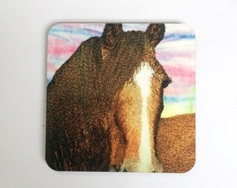 Horse coasters ~ horse gifts -  animal coasters  ~ nature coasters ~ horse print ~ animal lovers gifts ~ equestrian gifts