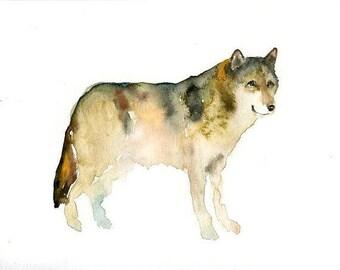 WOLF-10x8inch print-Children's Decor-Art for Children-kids wall art-Nursery art -Animal lover