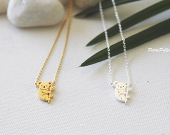 Koala Necklace in Silver/ Gold. Collarbone Necklace. Australian Animal Necklace. Cute Jewelry. Birthday Gift. Gift For Her (PNL-146)