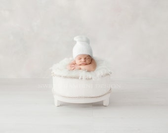 Newborn Photography Digital Backdrop for boys or girls - Simple white low bucket