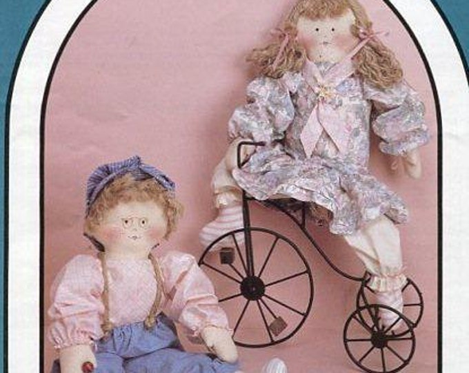 FREE US SHIP Dream Spinners 153 Pink Lemonade Boy or Girl Dolls 1988 Great American Quilt Factory  Out of Print Craft Pattern