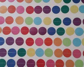 Rainbow-Color Dot Garland