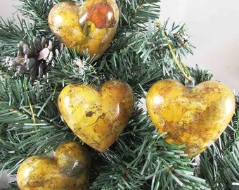 Set of 4 hearts poetic hanging - REF B1804