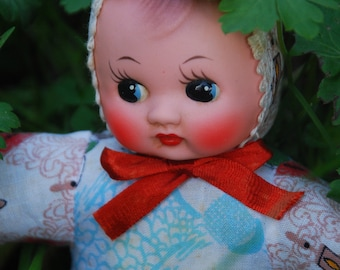 Squeaky doll / cloth doll with chinese pattern