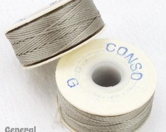 Light Grey Conso Nylon Size G Thread #CDD016