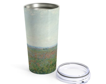 Poppy Field by Claude Monet, 20 Oz Vacuum Tumbler