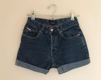 """Tommy Hilfiger Cuffed Denim Shorts Waist 25"""""""