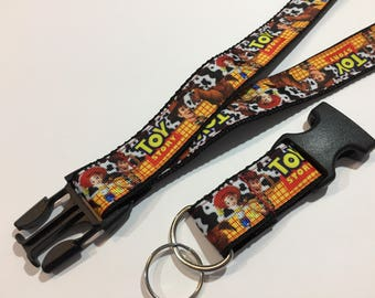 Toy Story with Bullseye, Woody and Jesse Lanyard with Removable Key Chain End