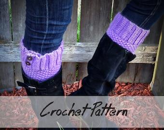 CROCHET Boot Cuff PATTERN: Boot Cuff Crochet Pattern, Boot Topper, Faux Leg Warmers, Boot Cuff Pattern