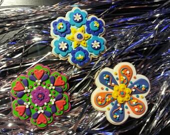 Handcrafted Ornament Christma Holiday Decor Folk Art Polymer clay Handmade Gift