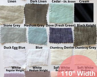 Linen fabric 110 inches wide, fabric by the yard, linen fabric wholesale, 35% off !