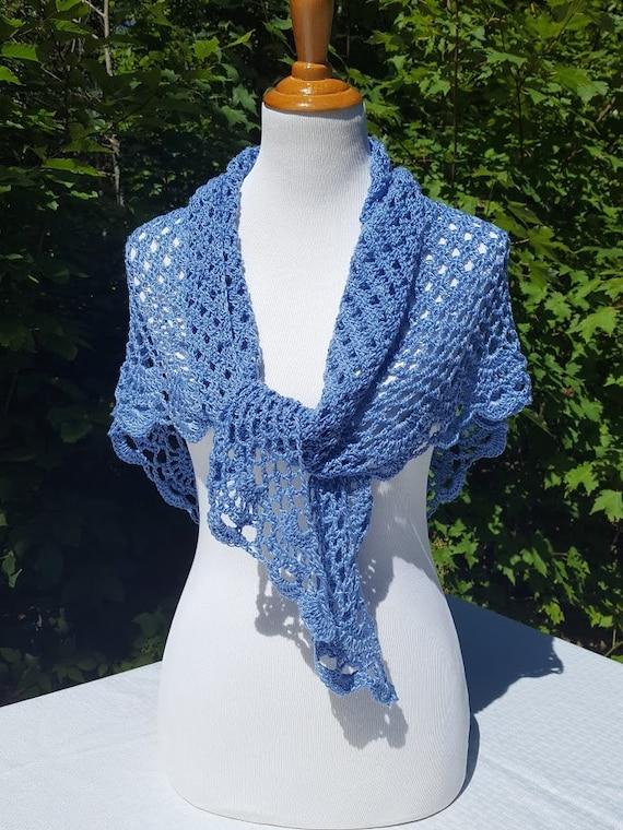 Wedding shawl, bridal wrap, summer evening wrap, lace crochet shawl, openwork lace shawl, Victorian lace, beach wedding, country wedding