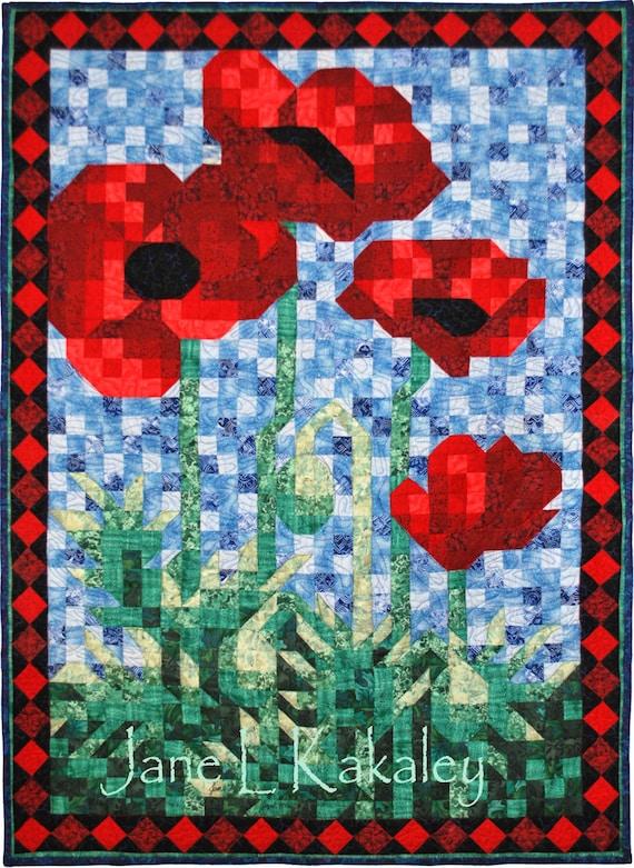 Quilt Pattern Pdf Poppy Mosaic Art Quilt Pattern
