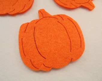 5 pumpkin, felt, 8x8 cm, *** Color choice **