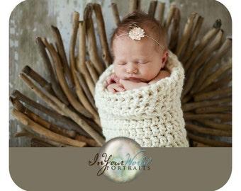 Chunky Newborn Cocoon Creamy White