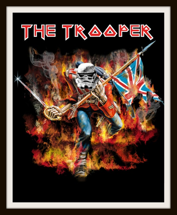 Star Wars Parody Art Poster The Trooper Eddie Iron Maiden