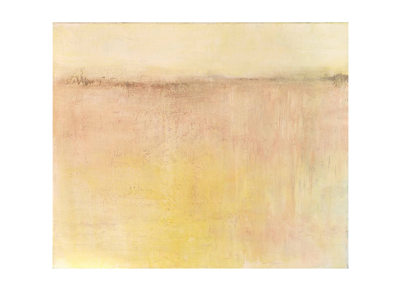 Tableau jaune p le beige corail pastel minimaliste clair for Tableau minimaliste