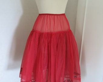 Red 50s tulle petticoat