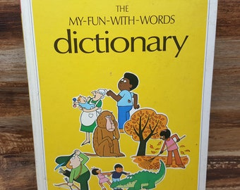 The My Fun With Words Dictionary, 1974, James Ertel, John Everds, vintage kids book