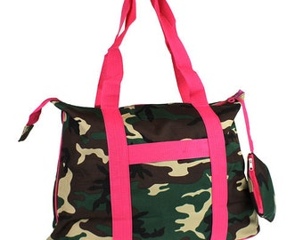 Monogrammed Camo Tote Bag, Camo, Personalized Camo Tote, Shopping tote, Girls Tote Bag, Camo/Pink,Girls Camo Tote Bag, Luggage,Girls Hunting