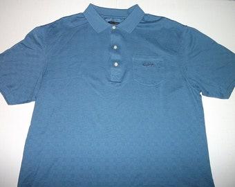 Greg Norman SHARK Blue Pocket Polo Shirt Size 2XL XXL