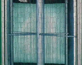 Revolving Door Bamboo Beaded Curtain