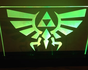 Legend of Zelda Triforce Lighted LED Acrylic Sign Multiple Colors