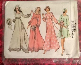 70's Vogue Bridal Design Sewing Pattern