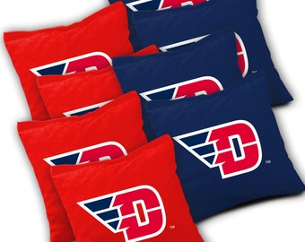 Officially Licensed Dayton Flyers Cornhole Bags Set of 8 - Top Quality - Regulation Cornhole Bags - Bean Bags
