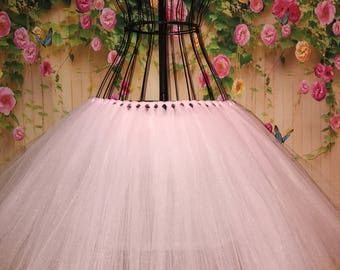 Light Pink Tutu- Pink Skirt- Pink Tulle tutu- Light Pink tulle tutu-Any Color- Will Custom Make-Any Size and Length