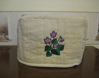 2Slice Toaster Cover Violets Design