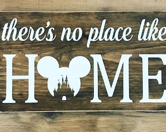 No place like home, disney sign, disney decor, in this house we do disney, foyer sign, home decor