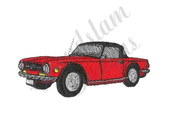 Triumph Tr6 Car - Machine Embroidery Design