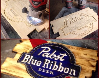 Pabst Blue Ribbon Beer Sign