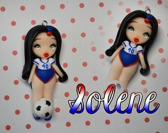 Stella - soccer player, chibi fimofoll World Cup