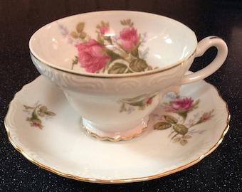 Lipper & Mann BondWare Pompadour Rose Tea Cup Set