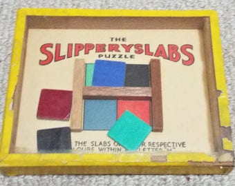 Slipperyslabs Vintage Dexterity Puzzle Game - R. Journet