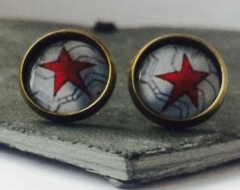 The Winter Soldier - Brass Stud Earrings
