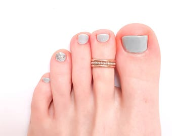 Rose Gold Toe Ring, Silver Toe Ring, Adjustable Toe Ring, Sterling Silver, Toe Ring, Midi Ring, Foot Jewelry, Summer Jewelry