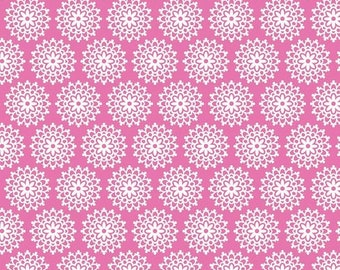 Summer Clearance Lovey Dovey Riley Blake Fabric - 1 Yard Pink Lace
