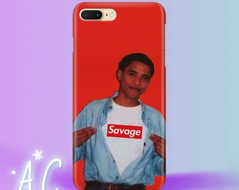 Obama iPhone 8 Case iPhone 7 Plus Case Barack Obama iPhone 6S Case Savage iPhone 5 Case USA iPhone SE Case iPhone 4 Case iPhone 8 plus case
