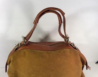 Vintage Dolce&Gabbana suede leather bag