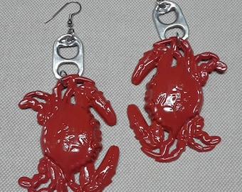 the Maine crab earrings unique earrings fashion statement earrings designers jewelry costume jewelry statement earrings fun jewelry