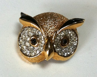 Jomaz Mazer Owl Brooch