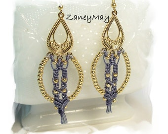 Tribal Micro Macrame Earring Tutorial in PDF
