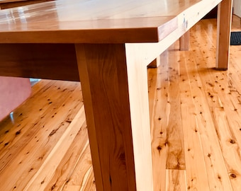 10 Seat Dining Table handmade reclaimed American Spruce  2315mmLong 880mmWide 750mmHigh hand rubbed oil finish