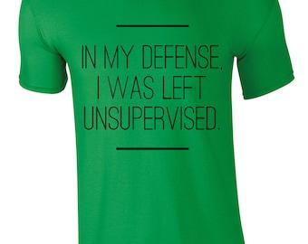 In My Defense Men's T-shirt